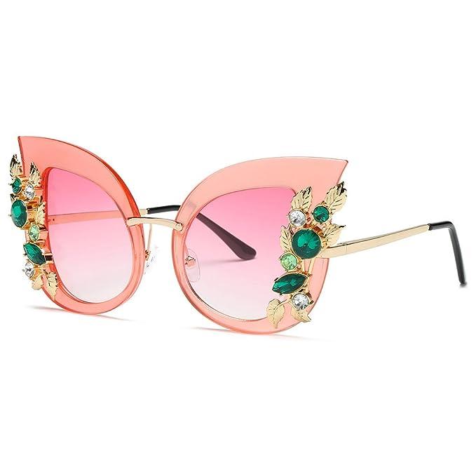 ef706a2c8dce97 Likecrazy Damenmode Künstliche Diamant Sonnenbrillen Klassische Katze Ohr  Metallrahmen Marke Brillenfassung Brillengestell für Jungen Und Mädchen
