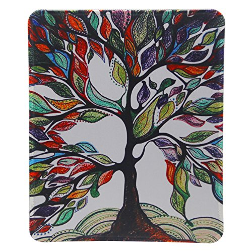 Mouse Pad - Tsmine Mouse Mat 24 X 20cm Non-Slip Rubber Cloth Tree of Life Printed Gaming Mousepad Washable Mouse Mat - Lucky Tree