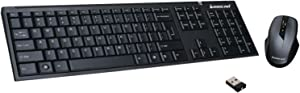 IOGEAR Long Range 2.4 GHz Wireless Keyboard and Mouse Combo, GKM552R
