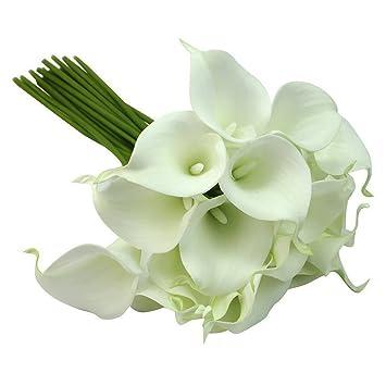 Jooks Kunstlicher Blume Brautstrauss Calla Zimmercalla Deko Blumen