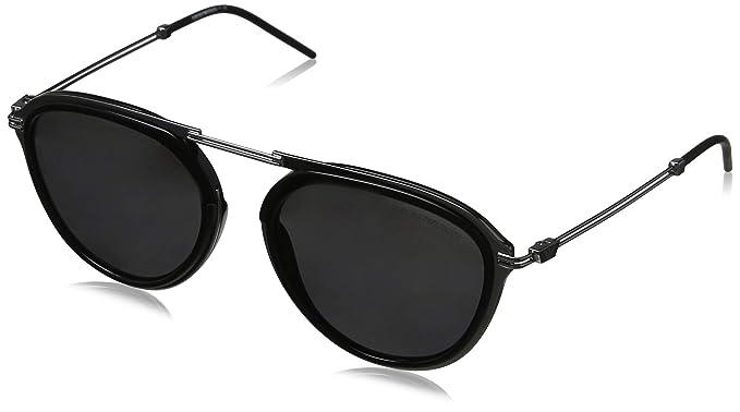Emporio Armani 0EA2056 Gafas de sol, Gunmetal/Black, 53 para Hombre