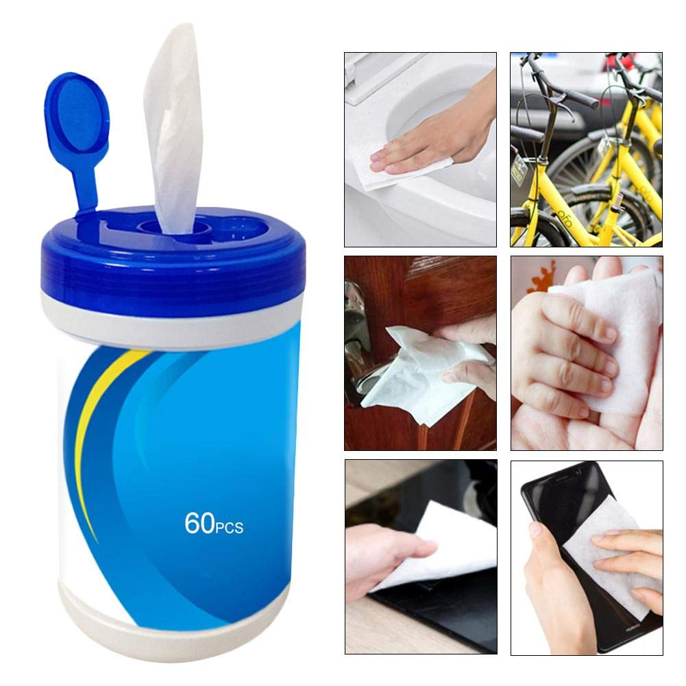 toallitas de limpieza antis/épticas toallitas h/úmedas 60 hojas//paquete Port/átiles 75 toallitas h/úmedas de alcohol