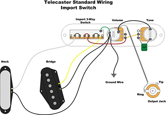 Standard Fender Telecaster Wiring Diagram from images-na.ssl-images-amazon.com