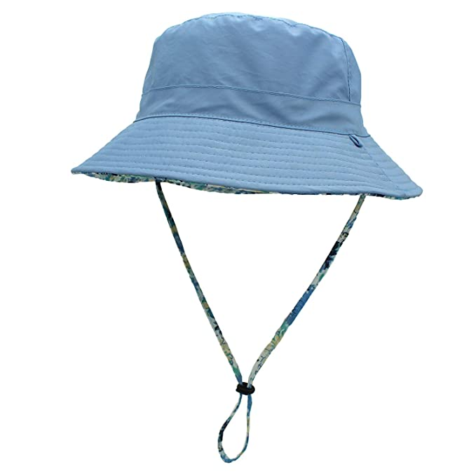 74a85f494369 YR.Lover Parent-Child Bucket Hat Double-Side Wearing Wide Brim Beach ...