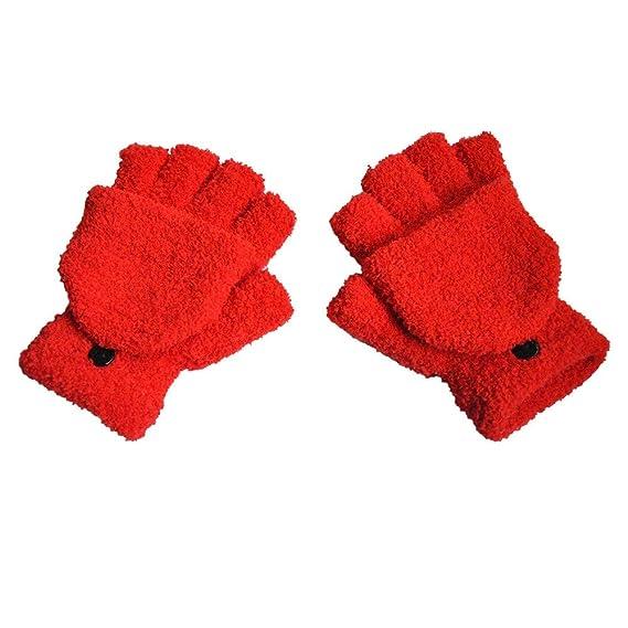 BHYDRY Mujeres Adultas Hombres Invierno Mano Muñequera Flip Coverer Guantes sin Dedos: Amazon.es: Ropa y accesorios