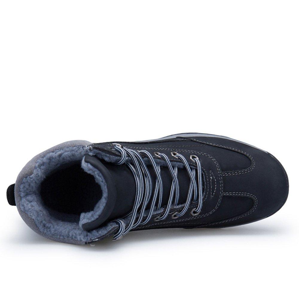 Botas de nieve Zenobia para hombres de moda de cuero resistente al agua de  moda al aire libre para hombre trekking zapatos de senderismo Negro b9195194abd8