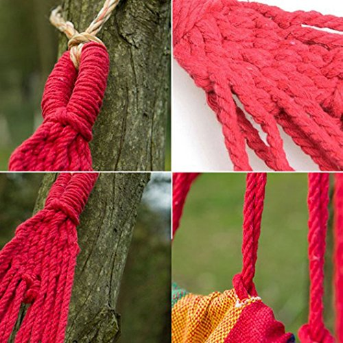 Skmei Cotton Rope Outdoor Swing Fabric Camping Hanging Hammock Canvas Bed