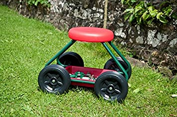 Garden Stool on Wheels The Sit On Gardening Seat Amazoncouk