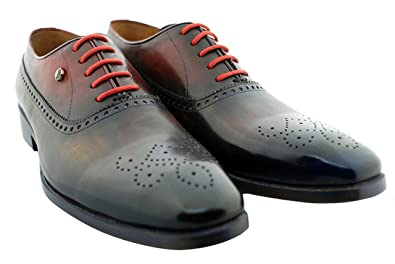 Purple/Red Queens Gate Men's Luxury Classic Leather Shoes