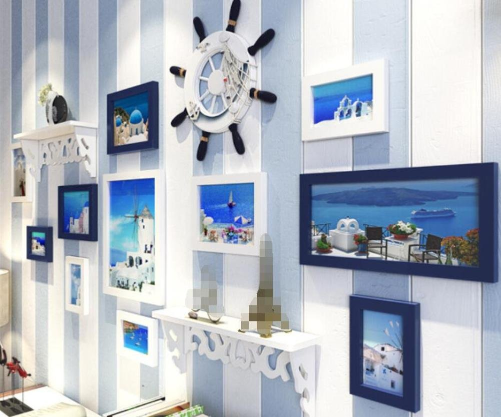 GL&G The Mediterranean Decoration Photo Wall Living Room Bedroom Frame Frame Combination Wall Decoration Background Wall Home Decoration