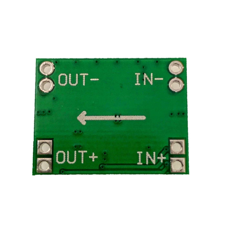JZK 6 x Mini MP1584EN DC a DC 3A Reductor de Voltaje Ajustable Step Down m/ódulo 4.5-28V a 0.8-20V convertidor regulador de tensi/ón 24V A 12V 9V 5V 3V
