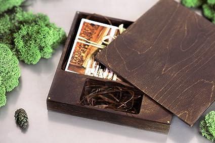Caja para unidad flash USB y caja de impresión de 17 x 17 cm de ...