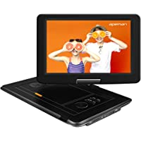 APEMAN 2020 Upgrade 17.9'' Portable DVD Player with 15.5'' Large Swivel Screen/Remote Control Support SD Card/USB/TV/External Speaker Built-in Rechargeable Battery for Kids/Parent, Car Travel/Home