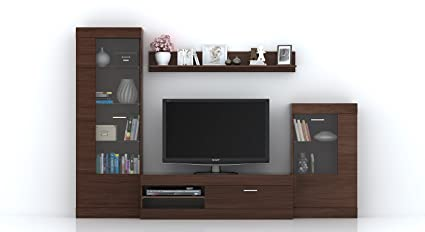 urban ladder ferdinand solid wood entertainment tv unit laminate rh amazon in tv units panorama tv unit plexiglas