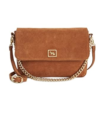 closer at special selection of top-rated professional Emma Fox Dales Suede Chain Crossbody, Cognac: Handbags ...