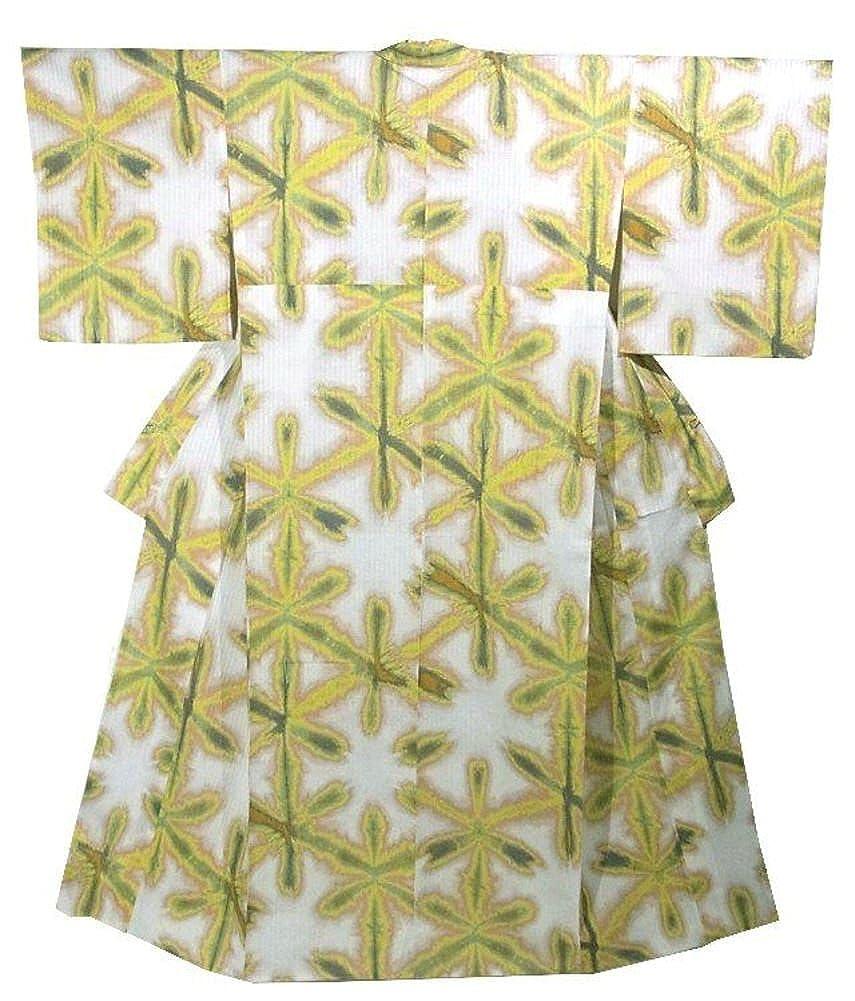 キモノッテ 着物 綿 浴衣 Mサイズ 雪花絞り風 裄67.4cm 身丈159cm B075XL9VYC