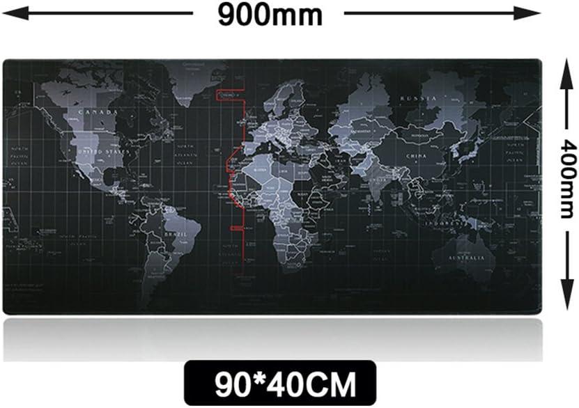 Vicloon Alfombrilla Raton Gaming Grandes World Map Mouse Pad XXL ...