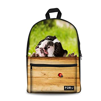 254839c79d11 Cute Animal School Bag for Teens Dog Backpack Girls Thick Print Daypack  Durable