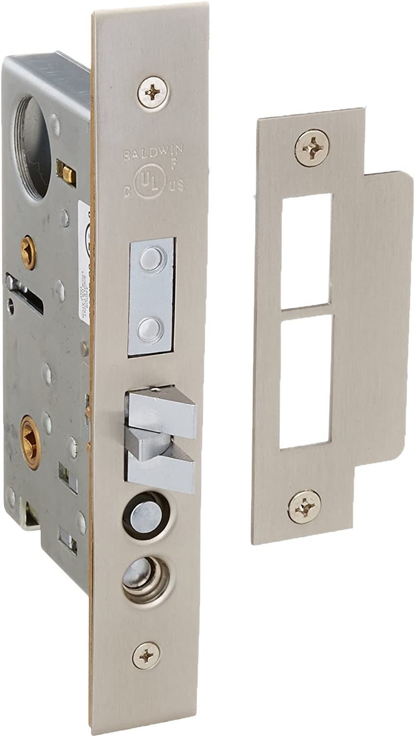 Lifetime Satin Nickel Baldwin 6320.LLS Left Handed Lever Strength Entrance and Apartment Mortise Lock