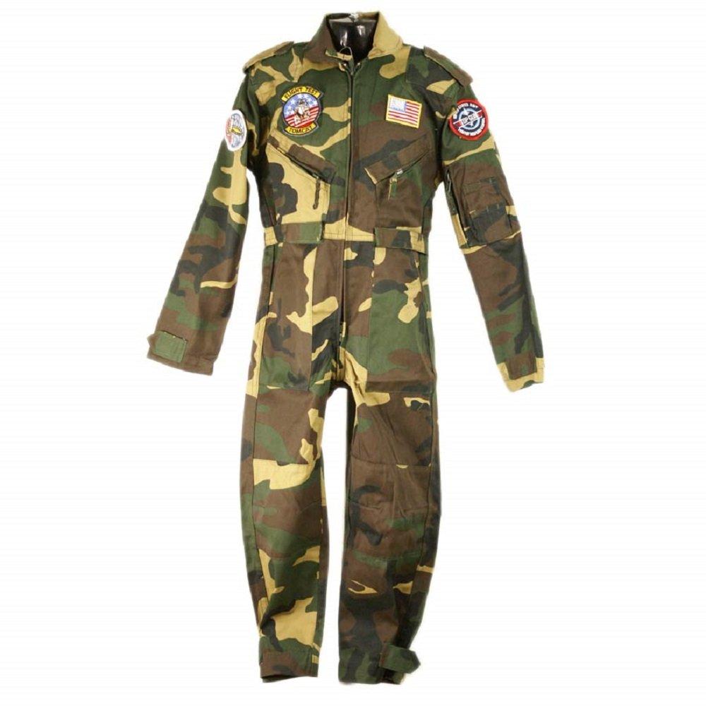 Muchachos de los niños del vuelo Traje de camuflaje verde militar / Ejército soldado vestido de lujo Traje 11-12 años de edad