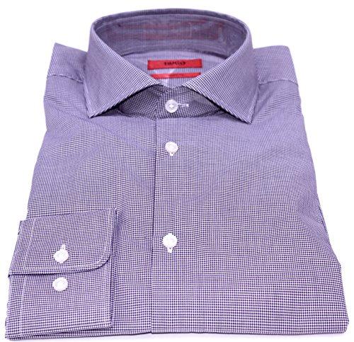 Hugo Boss Dark Purple Checkerd Sharp Fit Shirt from Hugo Boss