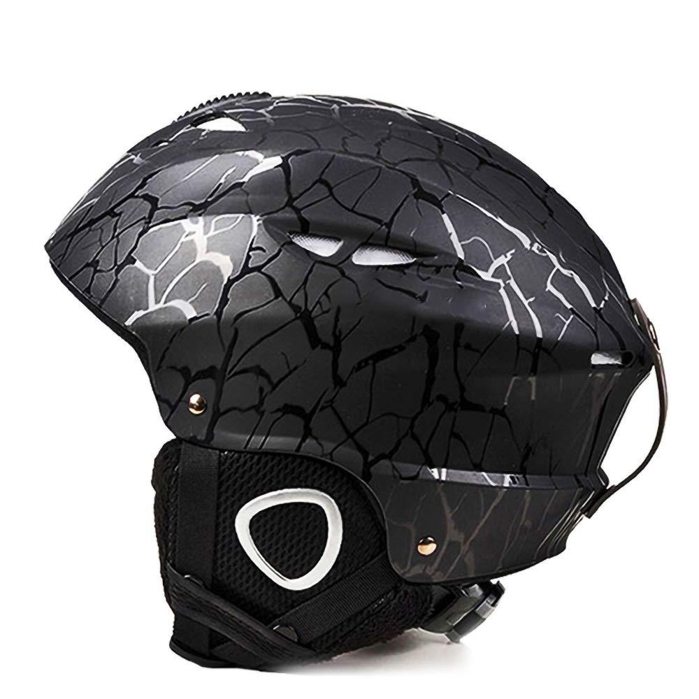 子供用ヘルメット、サイクリング、スケート、スクーティング、スキー、自転車用通気性通気口12個付き子供用安全調整自転車ヘルメット(56-59cm) (Color : Black)   B07R7FKJDL