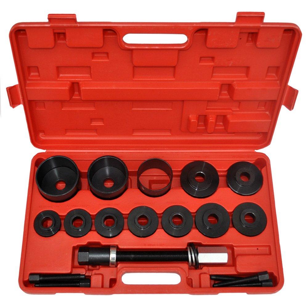 Extractor de Rueda Jago TIMBERTECH Kit de Herramientas para Cojinetes de Ruedas Set de 19 Piezas con Malet/ín Kit de Extracci/ón de Ruedas
