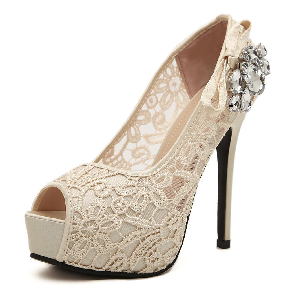 L@YC avec Talons Hauts De La L@YC Femme 16403 Foret à Bouche De Poisson 12 Cm BoîTe De Nuit avec Une Chaussure Simple Code De Bouche Faible White c94ec13 - conorscully.space