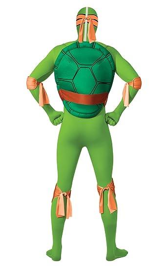 Disfraz Oficial de la Tortuga Ninja Michelangelo, de 2nd Skin, RubieS, para Adultos, Talla XL