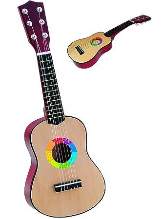 Gitarre aus Holz - 6 Saiten - stimmbar - \