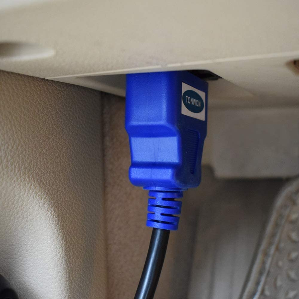 16 Pin Macho a Hembra Cable de extensi/ón OBD II Extensor de diagn/óstico para Todos los veh/ículos OBD2 60cm // Negro TONWON Cable de extensi/ón OBD2