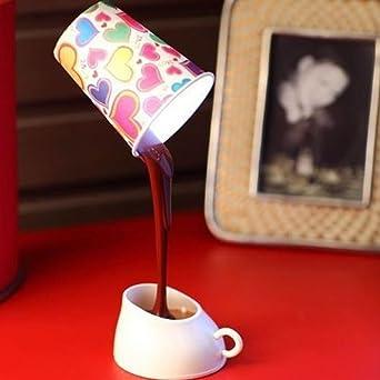 Heroneo Neuheit DIY LED Tischleuchte Home Romantische POUR Kaffee USB Akku  Nachtlicht