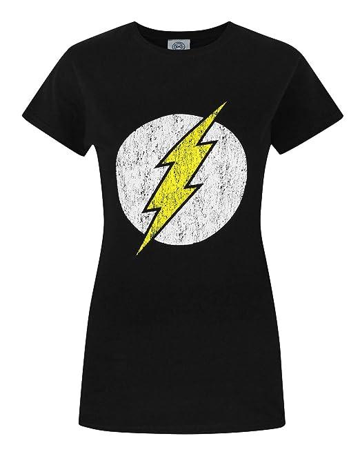 Licencia Oficial el emblema de Flash para hombre Camiseta Tallas S-XXL
