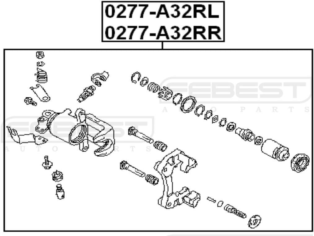 Rear Left Brake Caliper Assembly Fits NISSAN MAXIMA//CEFIRO A33 1998-2006