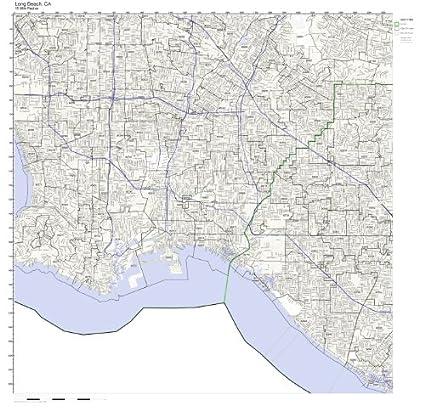 Amazon.com: Long Beach, CA ZIP Code Map Laminated: Home ...