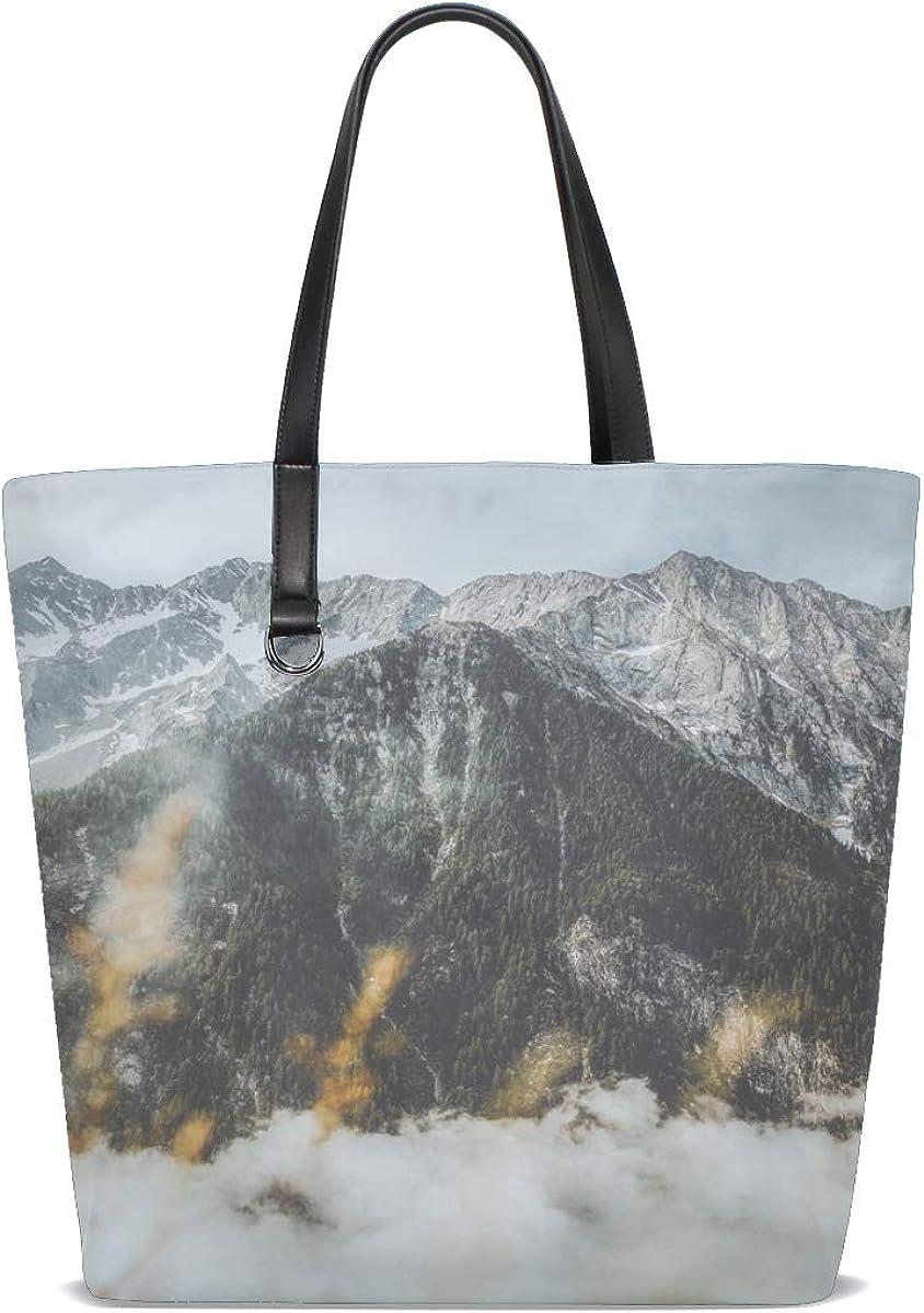 Mountain Peak Fog Tote Bag Purse Handbag For Women Girls