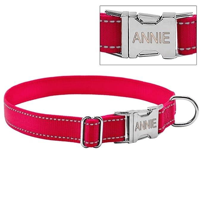 1 opinioni per Berry Collare per cani in nylon, personalizzabile con incisione, per cani di