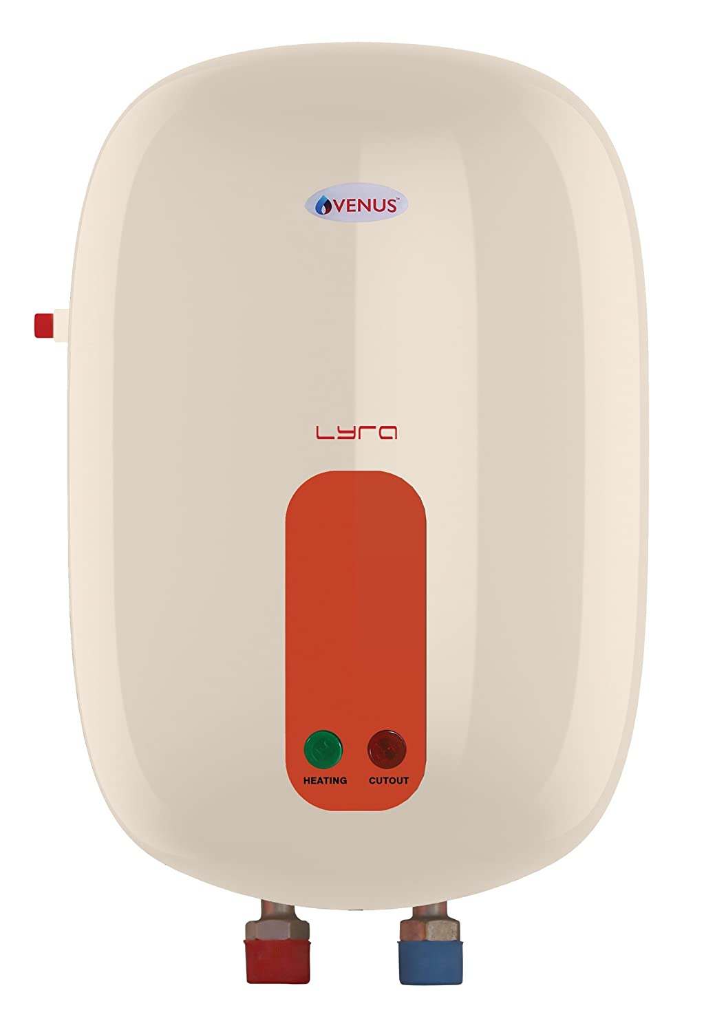 Venus Lyra 3R30 3-Litre Instant Water Heater (Ivory/Orange)