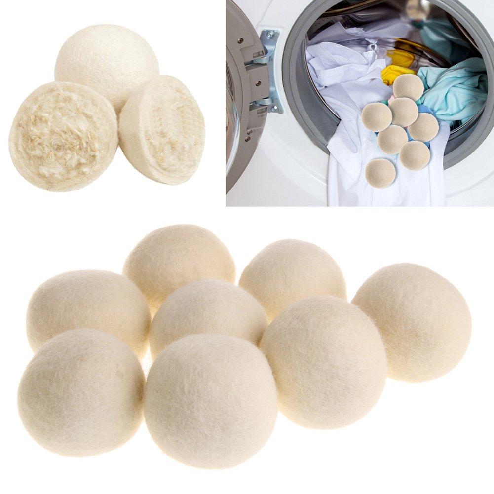 JERKKY 1Piece 7cm Asciugatrice in Lana Palle Asciugatura in Tessuto Morbido Luandry Home Washing White