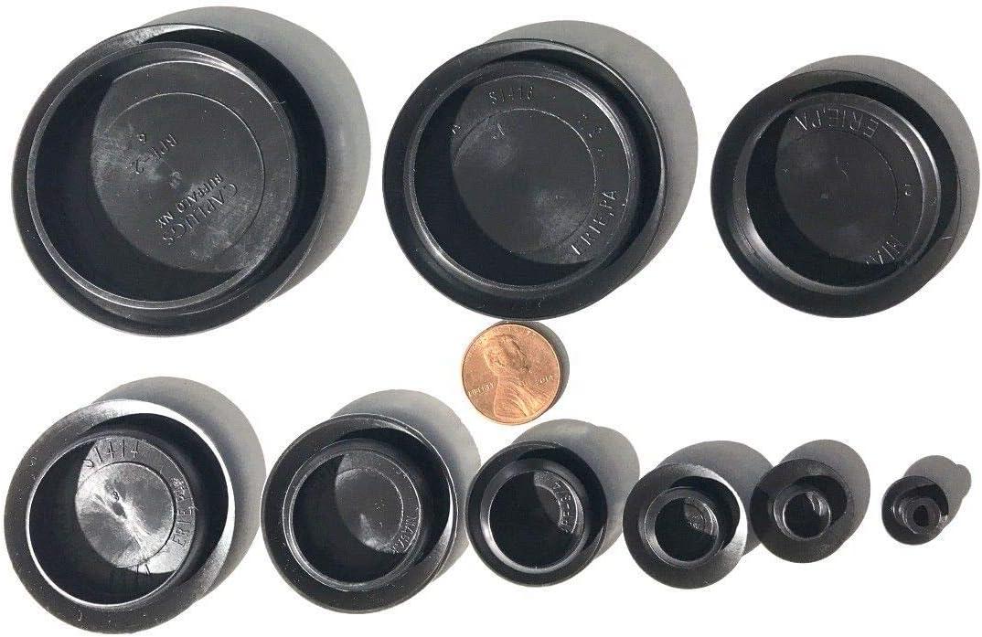 "6929RX 8-3//8/""-Flush Type Black Plastic Hole Plugs Auto Body Dr"