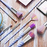 Ammiy Unicorn Makeup Brushes 10pcs With Colorful