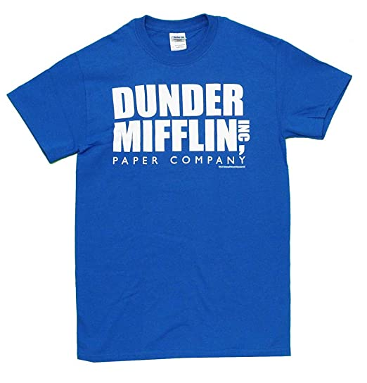 c659e5b4 Amazon.com: The Office Dunder Mifflin INC Paper Company Logo T-shirt Tee:  Clothing