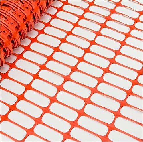 BAUSTELLEN-SICHERHEITSZAUN-Farbe :Orange extra rei/ßfest 30 m Rolle x 1m H/öhe Bradas Kunststoffzaun- Fangzaun-Wildzaun