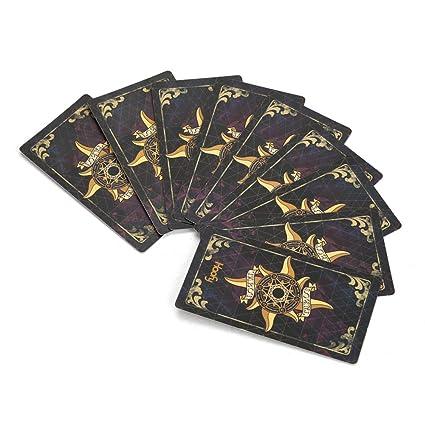 Haofy 78 Piezas Cartas del Tarot Juego de Cartas con Caja (Negro)