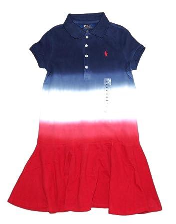 c66269a234 Amazon.com: Ralph Lauren Girls Dip Dye Polo Dress (5): Baby