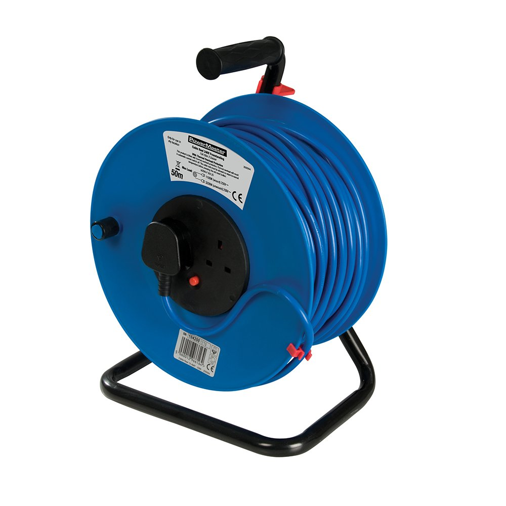 PowerMaster 200084 Cable Reel 240V Freestanding 13A 50 m 2 Socket SLTL4