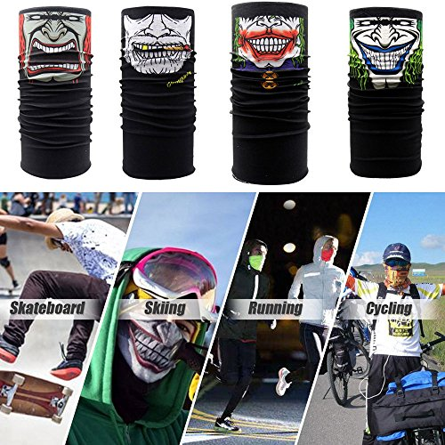 Sinwo Fashion Funny Clown Cycling Motorcycle Neck Tube Ski Scarf Face Mask Balaclava Halloween Party (Halloween Clown Makeup Guys)