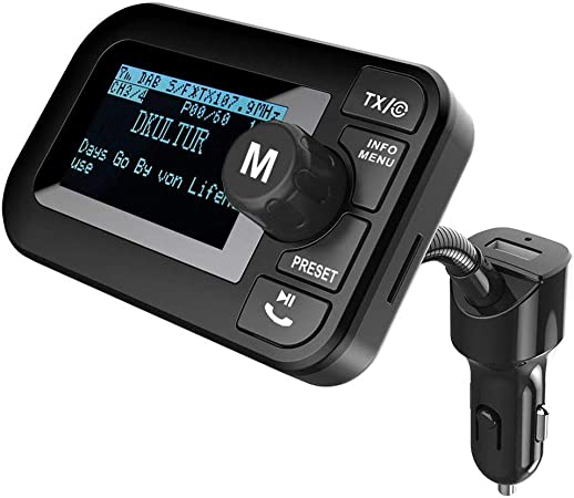 Firste Dab Autoradio Kristall Sound Car Kit 2 3 Dab Transmitter Tragbar Dab Digitales Radio Adapter Mit Bluetooth Freisprechanruf Fm Transmitter Aux Out Usb Kfz Ladegerät Tf Musik Spielen Elektronik