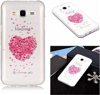 Klassikaline Coque Galaxy J5, Coque Samsung Galaxy J5, Transparente Silicone Coque pour Samsung Galaxy J5 Housse (Fleur de Bégonia)