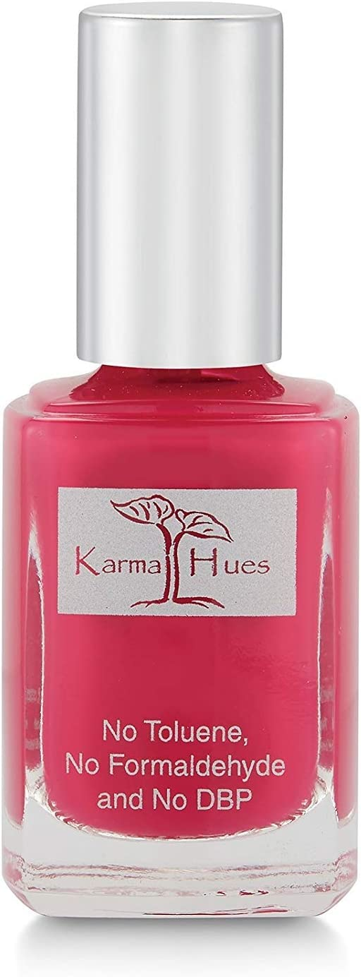 Karma Organic Natural Nail Polish-Non-Toxic Nail Art, Vegan and Cruelty-Free Nail Paint (Farmer's Market Berries)